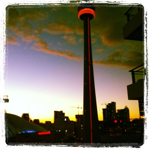 Sunset Toronto CN Tower