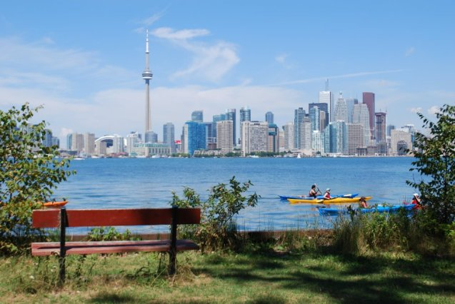 Toronto skyline beaches